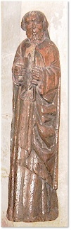 Carved figure of St. Matthew - St. Mary's, Brancaster