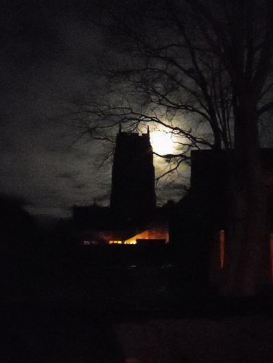 St. Mary's, Holme-next-the-Sea - the tower at night - photo Tony Foster