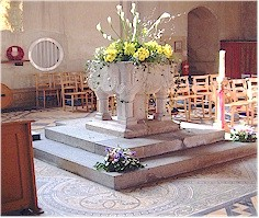 The original Norman Font - St. Mary's, Old Hunstanton