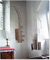 Surviving fragments of wall features- St. Mary's, Titchwell