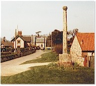 Ancient stone cross - St. Mary's, Titchwell