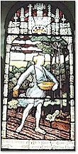 Window showing 'The Sower' - St. Mary's, Titchwell
